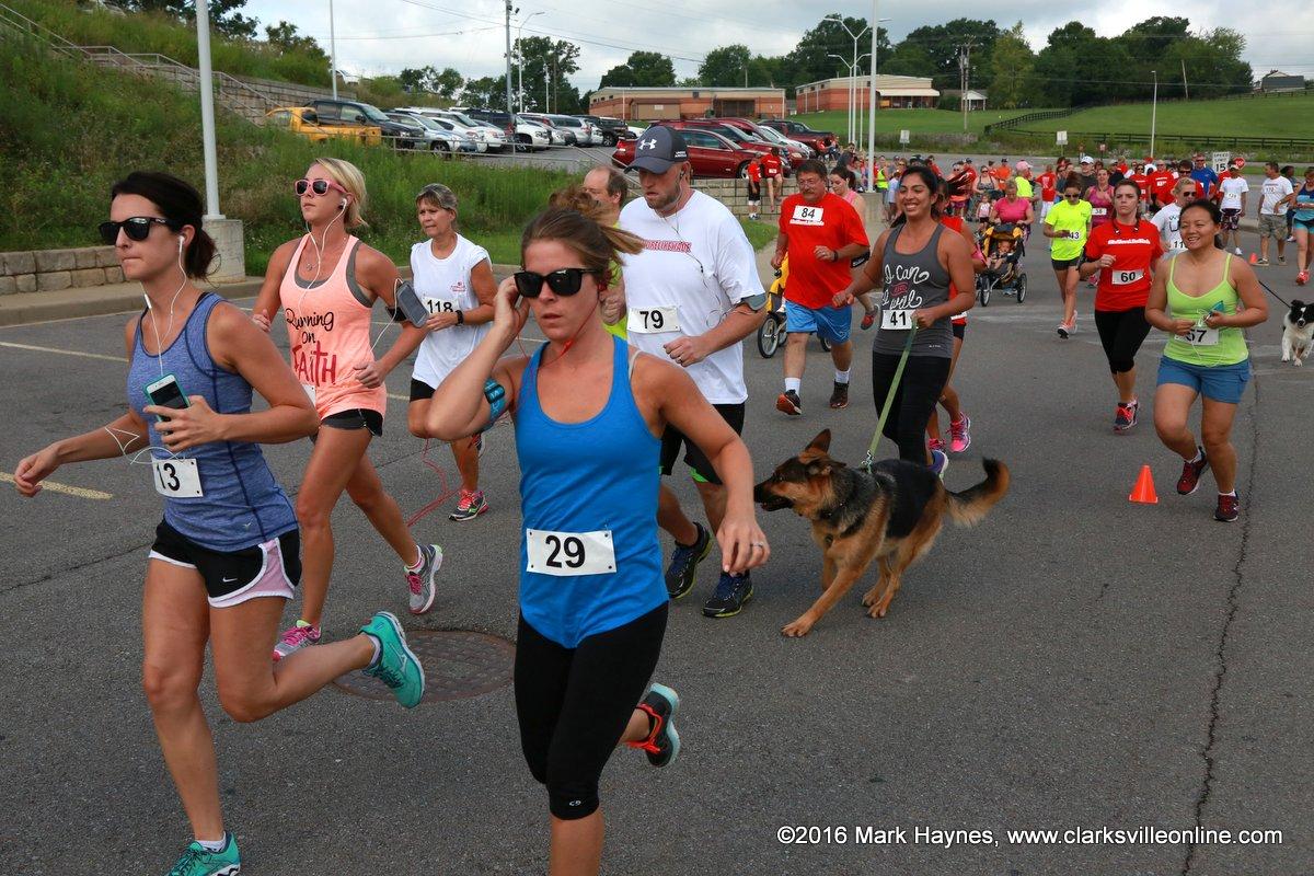 The second annual Be More Like Wade 5k Scholarship Run/Walk/Crawl.