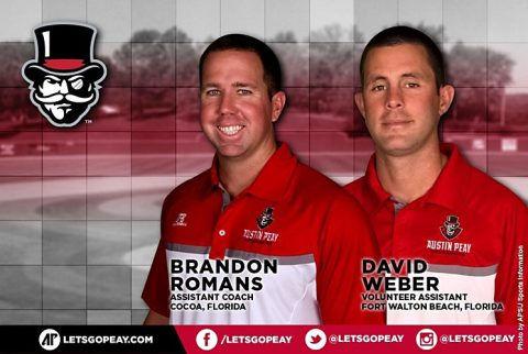 Brandon Romans and David Weber join Austin Peay Baseball coaching staff. (APSU Sports Information)