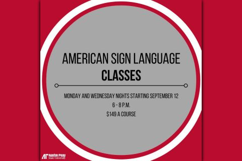 APSU Continuing Education offers American Sign Language classe