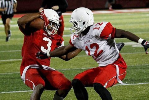 Austin Peay Football goes through ninety-four plays during a situational scrimmage Saturday night. (APSU Sports Information)