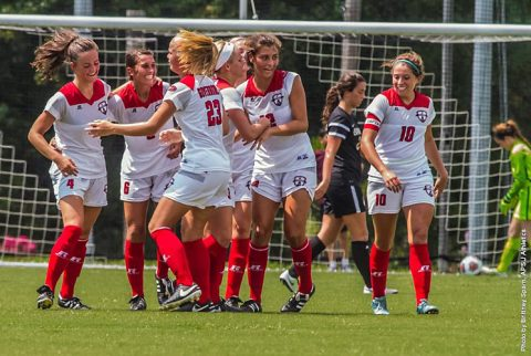 Austin Peay Soccer beats Evansville 2-0 at Morgan Brothers Field Sunday afternoon. (APSU Sports Information)