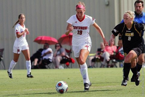 Austin Peay Soccer played exhibition match at Georgia State Sunday. Game ended in a 1-1 draw. (APSU Sports Information)