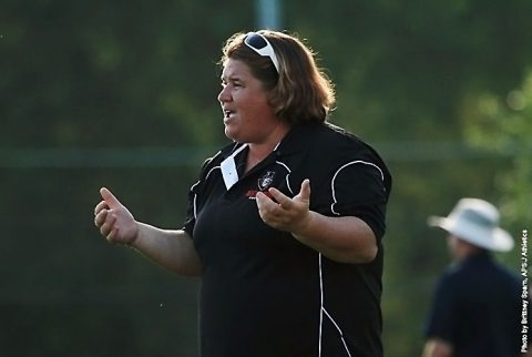 Austin Peay Soccer's head coach Kelley Guth got 100th Career Win Friday night at UAB. (APSU Sports Information)
