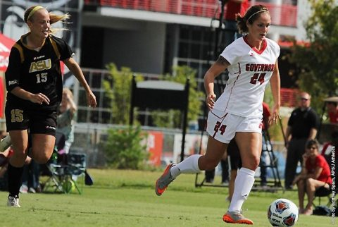 Austin Peay Soccer gets 4-1 win over Alabama State Sunday Afternoon. (APSU Sports Information)