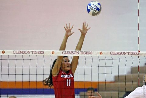 Austin Peay Volleyball falls to East Tennessee Friday in straight sets. (APSU Sports Information)