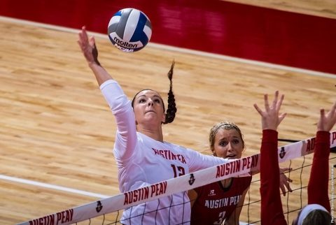 Austin Peay Women's Volleyball close out five set match against USC Upstate Saturday afternoon. (APSU Sports Information)
