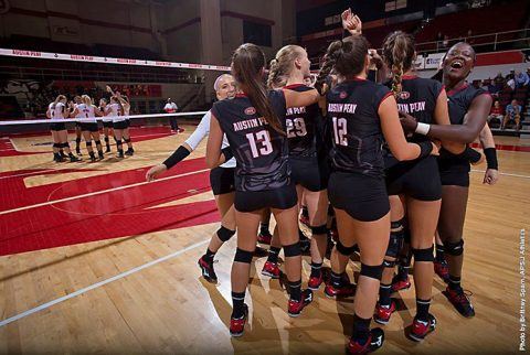 Austin Peay Women's Volleyball gets there set win over Southern Friday night at Trojan Invitational. (APSU Sports Information)
