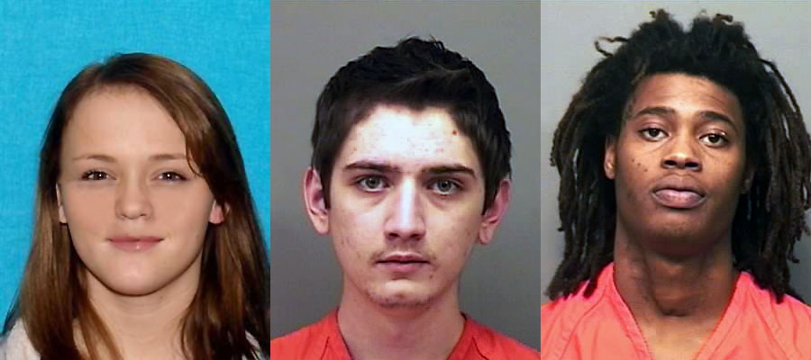MCSO Warrant Wednesday. (L to R) Christin Michelle Chaivre, Tyriq Saafir, and Joseph Hnosko.