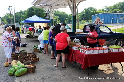 Clarksville Farmers Market at L & N Train Station.