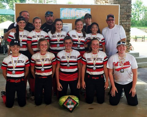 Full Throttle First place 14U Fast Pitch.