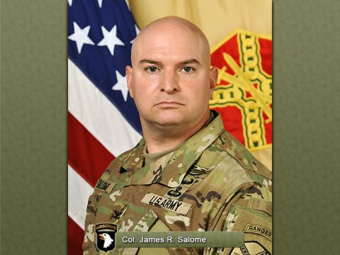 Fort Campbell Garrison Commander Colonel James R. Salome