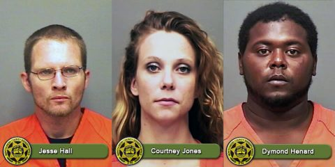 Montgomery County Sheriff's Office is looking for Jesse Hall, Courtney Jones and Dymond Henard.