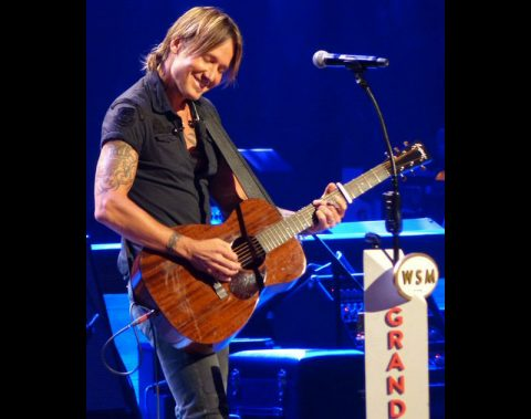 Keith Urban played two long sets at the hallowed hall in Music City. (Rich Lynch)