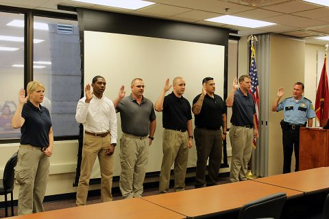 Montgomery County Sheriff's Office hold swearing in ceremony for Six New Deputies.