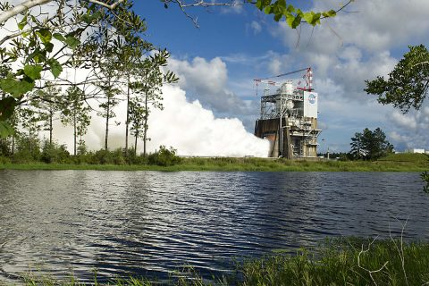 On Thursday, August 18th, NASA tested the RS-25 rocket engine. The rocket will be the core power for NASA's Space Launch System for the Journey to Mars. (NASA)