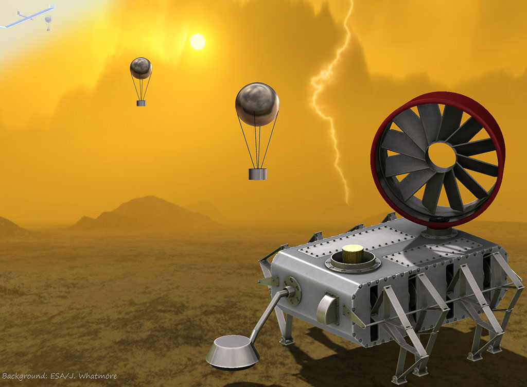 Jonathan Sauder's AREE rover had a fully mechanical computer and logic system, allowing it to function in the harsh Venusian landscape. (ESA/J. Whatmore/NASA/JPL-Caltech)