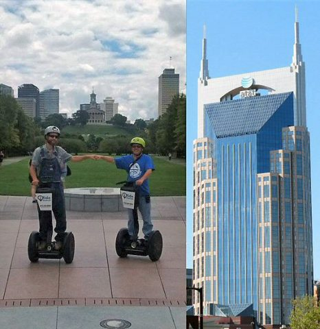 Paul Freeman, Rich Lynch and the Batman Building in Nashville.