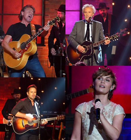 Mark Collie, JD Souther, Clare Bowen and Charles Esten thrilled at Skyville Live.