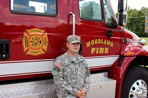 Woodlawn Volunteer Firefighter and Fort Campbell 3rd Brigade Combat Team soldier Staff Sergeant James Munns.