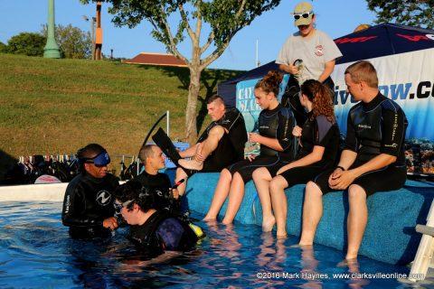 Go Dive Now pool at Riverfest.