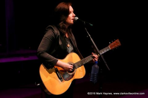 Country music singer Brandy Clark at the 2016 Riverfest Festival.