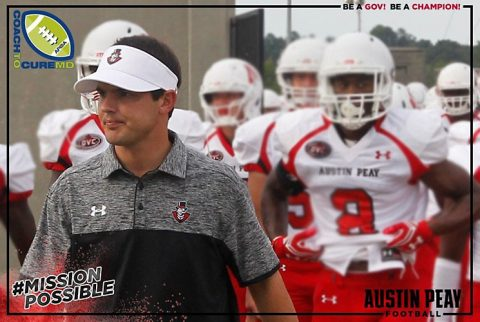 Austin Peay Football staff to wear Coach to Cure MD patches Saturday, September 24th. (APSU Sports Information)