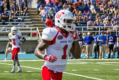 Austin Peay junior wide receiver Jared Beard scored two touchdowns Saturday in loss to Eastern Illinois. (APSU Sports Information)