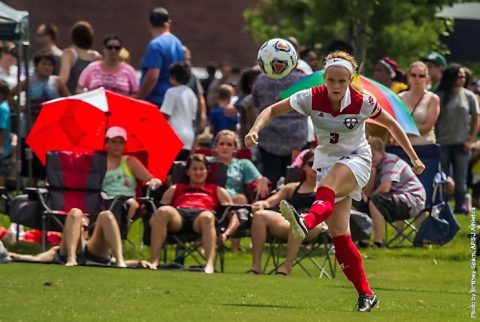 Austin Peay's Kirstin Robertson scores fourth goal of the season at Lipscomb. (APSU Sports Information)