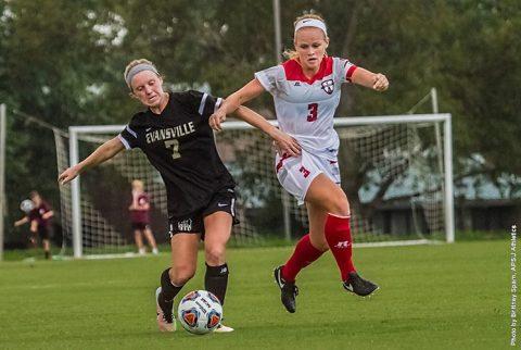 Austin Peay's Kirstin Robertson reaches 10 goal mark, scores game-winner in thriller at UT Martin. (APSU Sports Information)