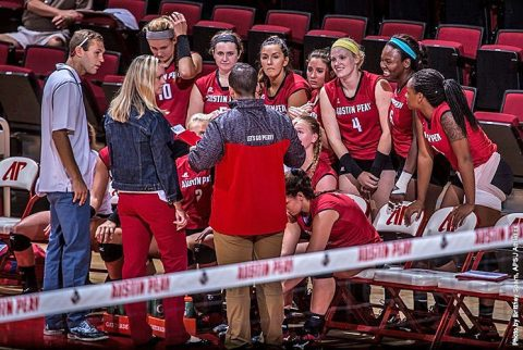 Austin Peay Volleyball loses in straight sets to Murray State Tuesday. (APSU Sports Information)