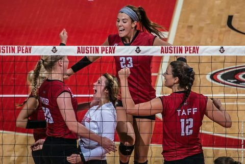Austin Peay Women's Volleyball plays The Citadel Friday night at Bulldog Invitational. (APSU Sports Information)