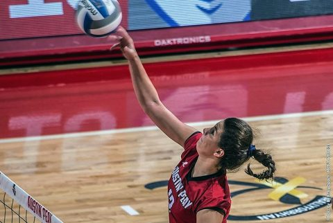 Austin Peay Volleyball beats The Citadel in straight sets Friday morning. (APSU Sports Information)