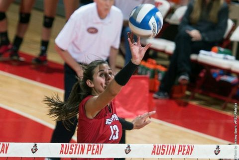 APSU Volleyball's Cecily Gable has 16 kills in win over Charleston Southern Friday afternoon. (APSU Sports Information)