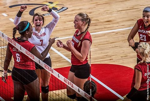 Austin Peay Volleyball gets four set win over Elon Saturday morning. (APSU Sports Information)