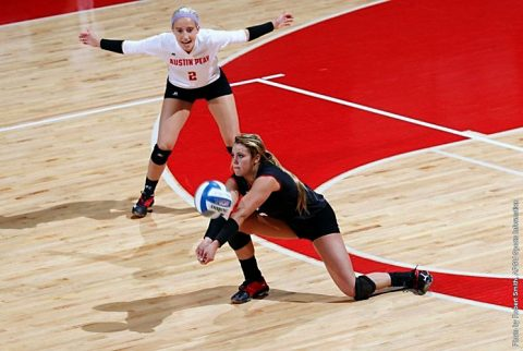Austin Peay Volleyball beats Southeast Missouri at home in straight sets. (APSU Sports Information)