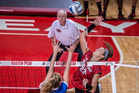 Austin Peay Volleyball sweeps UT Martin at the Dunn Center Saturday. (APSU Sports Information)