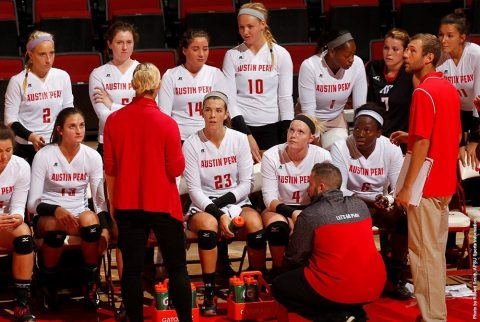 Austin Peay takes on SIU Edwardsville Friday in OVC Volleyball Tournament semifinals. (APSU Sports Information)