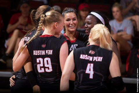 Austin Peay Volleyball faces New Mexico State Friday morning at Trojan Invitational. (APSU Sports Information)
