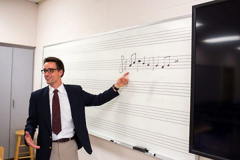 Austin Peay music education student Austin Ward