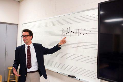 Austin Peay music education student Austin Ward