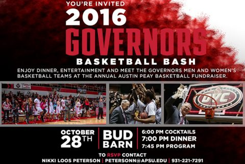 "Austin Peay Athletics to hold annual ""Basketball Bash"" on Friday, October 28th. (APSU Sports Information)"