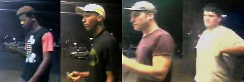 Clarksville Police are trying to identify the four vehicle burglary suspects in this photo.