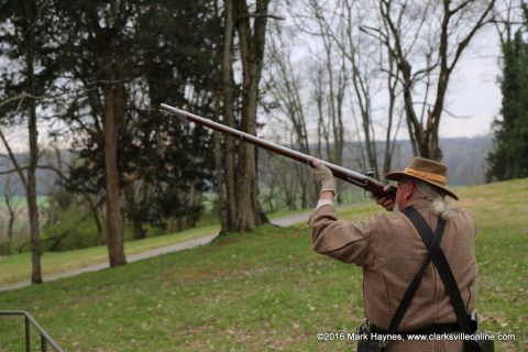 There will be live musket firing demonstrations at the annual March to the Past event this Saturday, May 6th.