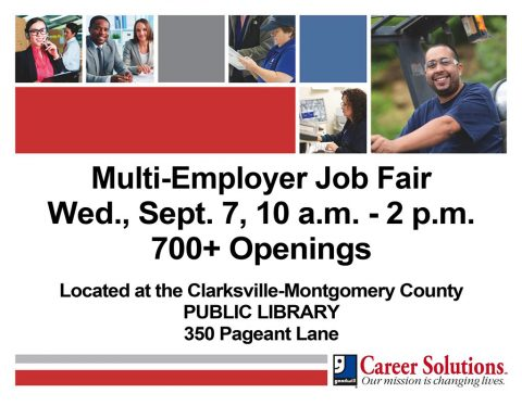 Goodwill Career Solutions to hold Multi-Employer Job Fair at Clarksville-Montgomery Public Library September 7th
