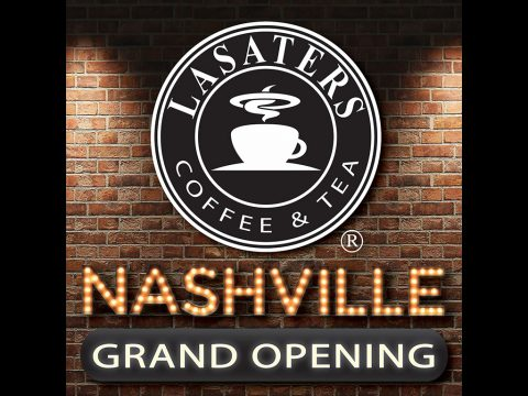 Lasaters Coffee & Tea will be celebrating it's new Nashville location with a Grand Opening on Friday, September 16th at 6:00am