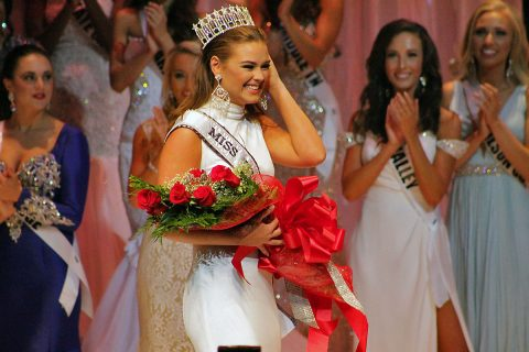 Hope Stephens is crowned Miss Tennessee USA 2016 at Austin Peay State University in Clarksville, Tennessee in October, 2015.