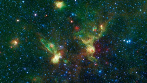 Here is the nebulaes seen by NASA's Spitzer Space Telescope. (NASA/JPL-Caltech)