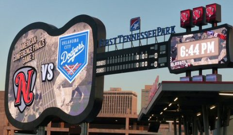 The PCL playoffs moved to First Tennessee Park in September. (Rich Lynch)