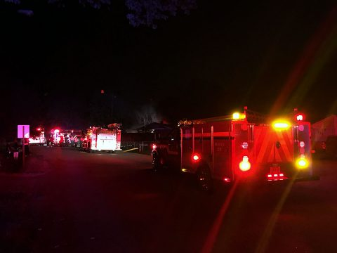 House fire on Notgrass Road