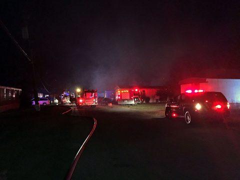 House trailer fire on Power Street.